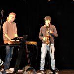 Saxophon und Klavier - Leo Dent mit Vater